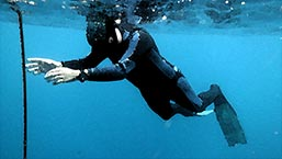 Train freediving